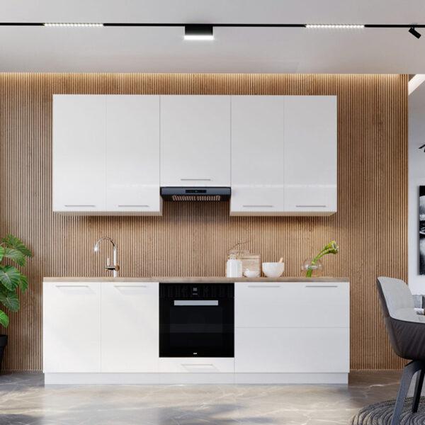 Blok kuhinja 240cm srebrni sokl scaled 1